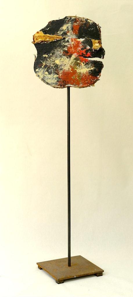 """""""Die zwei Gesichter des Kunstkritikers 1"""", Rückseite"""
