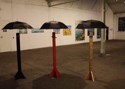 """""""Wasser"""" mit HKB, Flottmannhallen Herne, 2010, Installation """"Alles Gute kommt von oben"""""""