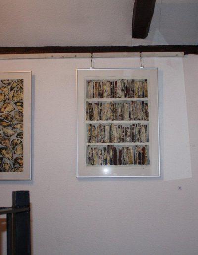 Schollbrockhaus Herne, Dezember 2012, Brennholz-Monotypien