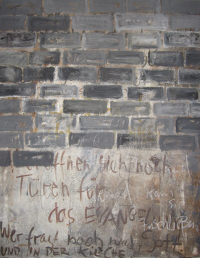 """""""Siehe, ich habe vor dir eine offene Tür aufgetan ..."""", 120x95, Mischtechnik auf Leinwand, aus der Reihe """"Wortbilder II"""", 2010"""