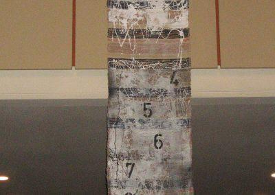 """""""To-Do-Liste für eine bessere Welt"""" in der Ausstellung """"angeregt - Herner Künstler lassen sich von der Bibel inspirieren"""", Christuskirche Wanne-Eickel, Juli 2013"""