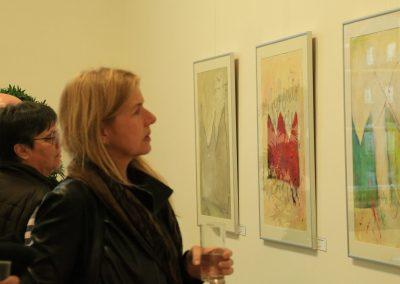 """Vernissage """"... und dass niemand deine Krone nehme"""", vor Kronen-Serie von Annette Ihme-Krippner, Herner Rathaus 2014"""