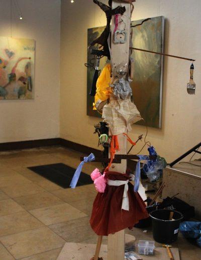 crikraculum-Ausstellung, Mitmach-Skulptur der Vernissage-Besucher