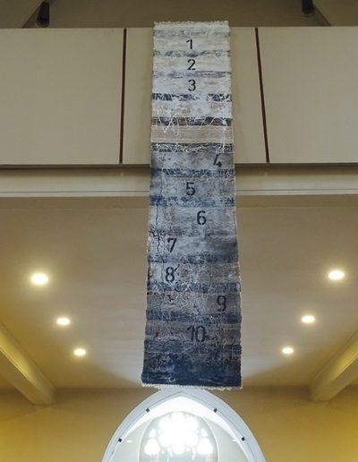 """Installation """"Die 4 Säulen der Reformation"""", in """"Betreff: Luther"""", Teilansicht, 2017"""